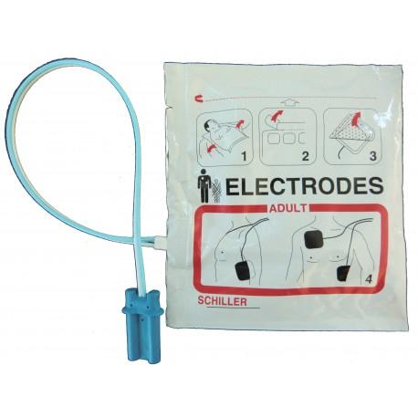 Electrodes pré-connectées adultes Schiller FRED EASY