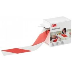 Bande de chantier, rouge / blanc, non adhésif, 70 mm x 100 m